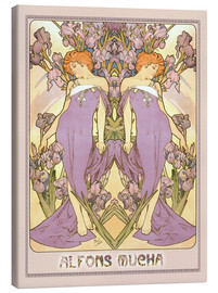 Canvas print  The Iris - Alfons Mucha
