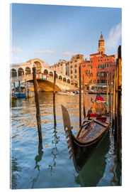 Acrylglas print  Gondola at Rialto bridge - Matteo Colombo