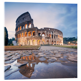 Acrylglas print  Colosseum reflected into water - Matteo Colombo