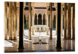 Acrylglas print  Court of the Lions, Alhambra palace, Granada, Spain - Matteo Colombo