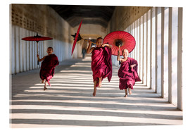 Acrylglas print  Young monks running - Matteo Colombo