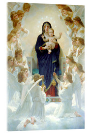 Acrylglas print  The Virgin with angels - William Adolphe Bouguereau