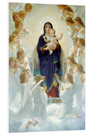 PVC print  The Virgin with angels - William Adolphe Bouguereau
