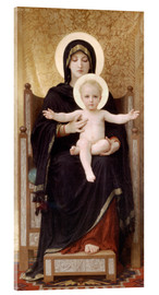Acrylglas print  Madonna and Child - William Adolphe Bouguereau
