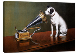 Canvas print  His master's voice reclame - François Barraud
