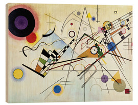 Hout print  Composition no. 8 - Wassily Kandinsky