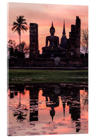 Acrylglas print  Wat Mahathat in evening light - Matteo Colombo