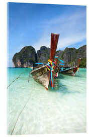 Acrylglas print  Decorated wooden boats, Thailand - Matteo Colombo