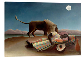 Acrylglas print  The sleeping one - Henri Rousseau