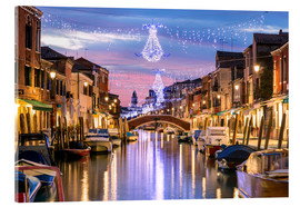Acrylglas print  Canal in Venice at Christmas - Matteo Colombo