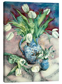 Canvas print  Tulips and Snowdrops - Julia Rowntree