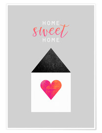 Premium poster  Home Sweet Home - Elisabeth Fredriksson