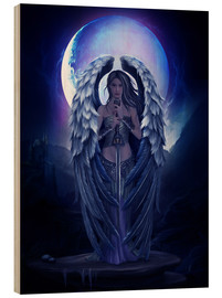 Hout print  Guardian angel - Elena Dudina
