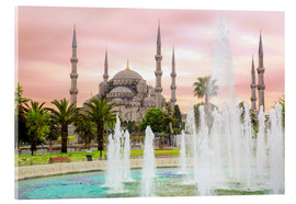 Acrylglas print  the blue mosque (magi cami) in Istanbul / Turkey (vintage picture) - gn fotografie