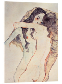 Acrylglas print  Two Women Embracing - Egon Schiele