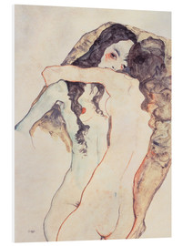 PVC print  Two Women Embracing - Egon Schiele