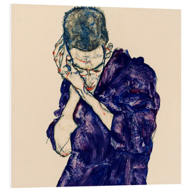 PVC print  Youth with violet frock - Egon Schiele