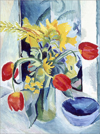 Acrylglas print  Still life with tulips - August Macke