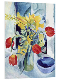 PVC print  Still life with tulips - August Macke