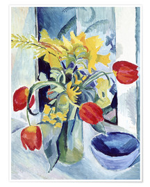 Premium poster  Still life with tulips - August Macke