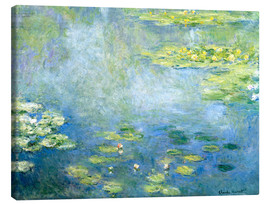 Canvas print  Vijver met waterlelies - Claude Monet