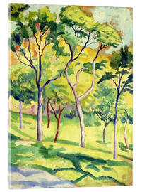 Acrylglas print  Trees on a lawn - August Macke
