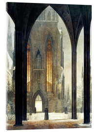 Acrylglas print  Cathedral in Winter - Ernst Ferdinand Oehme