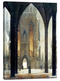 Canvas print  Cathedral in Winter - Ernst Ferdinand Oehme