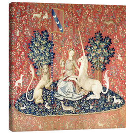 Canvas print  The Lady and the Unicorn: The sense of sight