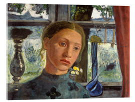 Acrylglas print  A girl's head in front of a window - Paula Modersohn-Becker