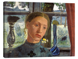 Canvas print  A girl's head in front of a window - Paula Modersohn-Becker