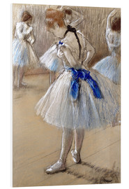 PVC print  Dancer tying the loop - Edgar Degas