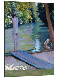 Aluminium print  Bathers on the banks of the Yerres - Gustave Caillebotte