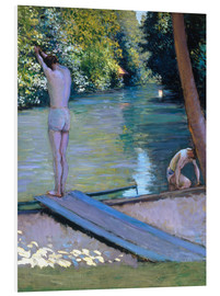 PVC print  Bathers on the banks of the Yerres - Gustave Caillebotte