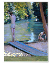 Premium poster  Bathers on the banks of the Yerres - Gustave Caillebotte