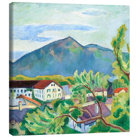 Canvas print  Spring landscape in Tegernsee - August Macke