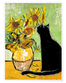 Premium poster The cat of Van Gogh