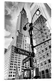 Acrylglas print  Chrysler Building in New York City (monochroom) - Sascha Kilmer