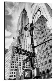 Aluminium print  Chrysler Building in New York City (monochroom) - Sascha Kilmer