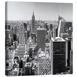 Canvas print  Top Of The Rock - New York City (monochrome) - Sascha Kilmer