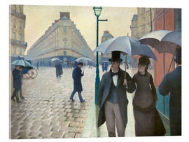 Acrylglas print  Paris Street, rainy day - Gustave Caillebotte