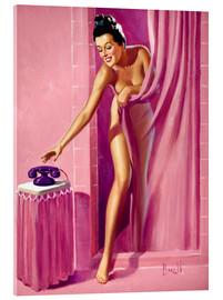 Acrylglas print  Brunette in Shower - Al Buell