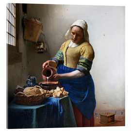 Acrylglas print  The Milkmaid - Jan Vermeer
