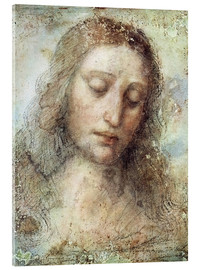 Acrylglas print  head of christ - Leonardo da Vinci