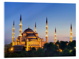 Acrylglas print  Blue Mosque at twilight - Circumnavigation