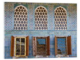 Acrylglas print  Islamic windows of the Topkapi palace - Circumnavigation