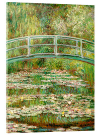 Acrylglas print  The Japanese bridge - Claude Monet