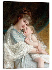 Canvas print  A tender embrace - Emile Munier