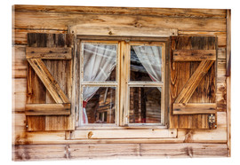 Acrylglas print  Window of alps cabin, South Tyrol (Italy) - Christian Müringer