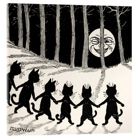 Acrylglas print  Cats dancing at full moon - Louis Wain